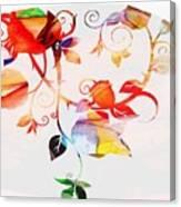 Profound Thought Rose Vine Canvas Print