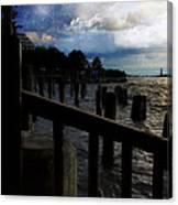 Promenade At The Hudson River New York City Canvas Print