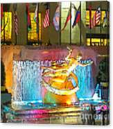 Prometheus Sculpture In Rockefeller Center  Canvas Print