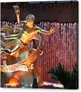 Prometheus Statue - Rockefeller Center Nyc Canvas Print