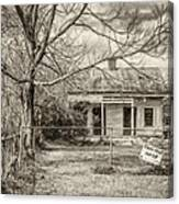 Promoting The Obvious - Paint Bw Canvas Print