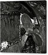 Propeller Of An Old Abandoned Ship Canvas Print
