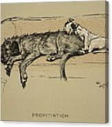 Propitation, 1930, 1st Edition Canvas Print