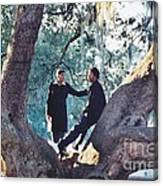 Proposing In A Tree Canvas Print