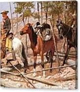 Prospecting For Cattle Range Canvas Print