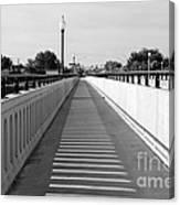 Prosser Bridge Perspective - Black And White Canvas Print