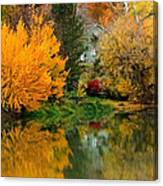 Prosser - Fall Reflection With Hills Canvas Print