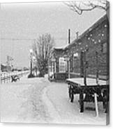 Prosser Winter Train Station  Canvas Print