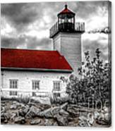 Protector Of The Harbor - Sand Point Lighthouse Canvas Print