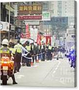 Protesters March Against Hong Kong Leader Canvas Print