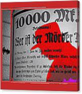 Proto Film Noir Peter Lorre Fritz Lang M 1931  Screen Capture Poster 2013 Canvas Print