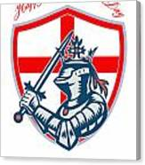 Proud To Be English Happy St George Day Shield Card Canvas Print