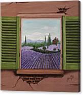 Provence Lavander Fields Original Acrylic Canvas Print