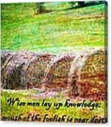 Proverbs 10 14 Canvas Print
