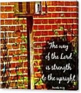 Proverbs 10 29 Canvas Print