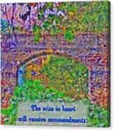 Proverbs 10 8 Canvas Print