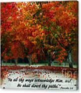 Proverbs 3 Canvas Print