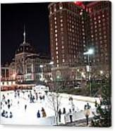 Providence On A Cold December Evening Canvas Print