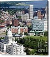 Providence Rhode Island Downtown Skyline Aerial Canvas Print
