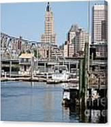 Providence River And Point St Bridge Canvas Print