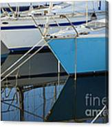 Prows Of Boats Canvas Print