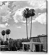 Ps City Hall Front Bw Palm Springs Canvas Print