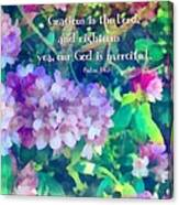 Psalm 116 5 Canvas Print