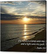 Psalm 119-105 Your Word Is A Lamp Canvas Print
