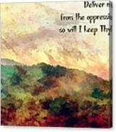 Psalm 119 134 Canvas Print