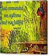 Psalm 119 138 Canvas Print