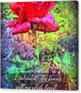 Psalm 119 58 Canvas Print
