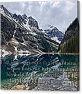 Psalm 121 With Mountains Canvas Print