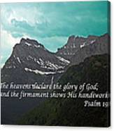 Psalm 19 1 On The Rocky Mountains Canvas Print