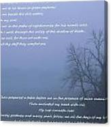 Psalm 23 Foggy Morning Canvas Print