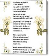Psalm 23 From The Holy Bible Canvas Print