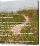Psalm 23 Path  Canvas Print