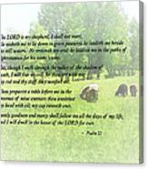 Psalm 23 The Lord Is My Shepherd Canvas Print