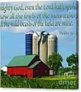 Psalm 50 Canvas Print