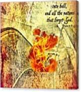 Psalm 9 17 Canvas Print