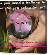 Psalm 91 Canvas Print