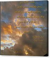 Psalm Eight Canvas Print