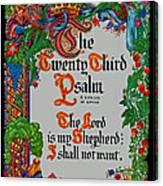 Psalms 23-1 Canvas Print