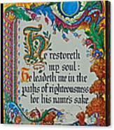 Psalms 23-3 Canvas Print