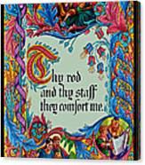 Psalms 23-4b Canvas Print
