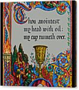 Psalms 23-5b Canvas Print