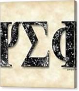 Psi Sigma Phi - Parchment Canvas Print