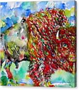 Psychedelic Buffalo Canvas Print