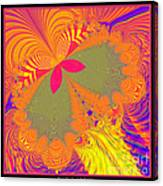 Psychedelic Butterfly Explosion Fractal 61 Canvas Print