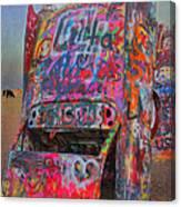 Psychedelic Cadillac Canvas Print