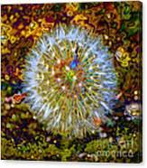 Psychedelic Dandelion Canvas Print
